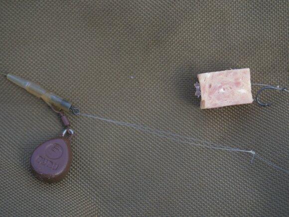 Svarelio tvirtinimo būdas, kurį naudojau ūsorių žūklei