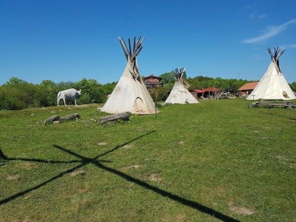 Vinetu indėnų miestelis