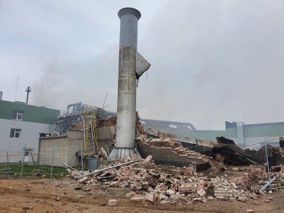 Klaipedos Medienos factory after the explosion (photo by Martynas Vainorius)