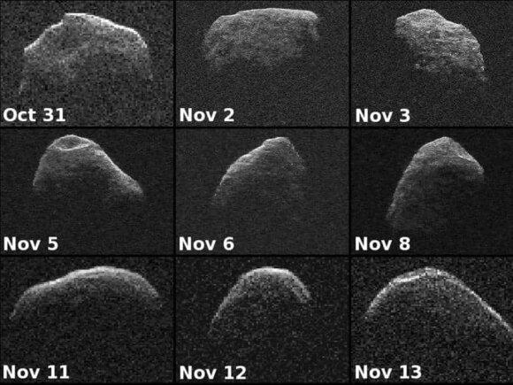 Devyni asteroido Apophis atvaizdai