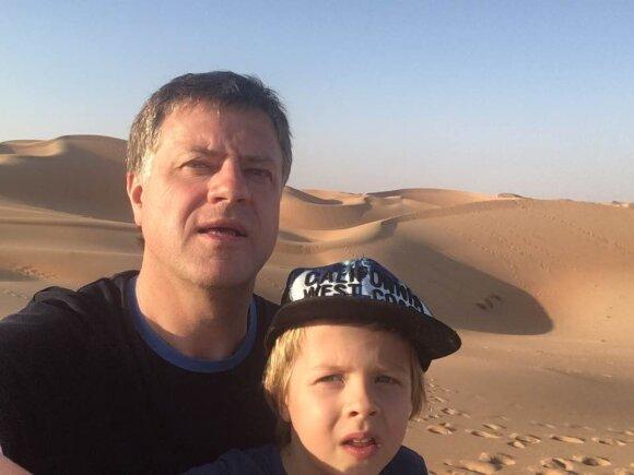 Rolandas Skaisgirys su sūnumi