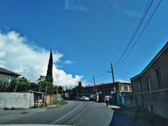 Sakartvelo kaimai atrodo kaip maži miesteliai