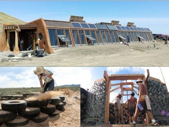 Namas iš padangų/ G. Klimavičiaus pristatymo skaidrės