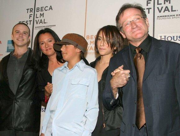 Robinas Williamsas su šeima