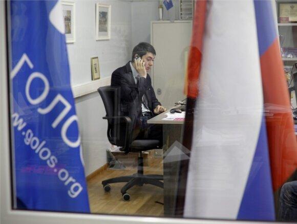 """Pažeidimų rinkimuose registruotojai """"Golos"""" neteko biuro Maskvoje"""