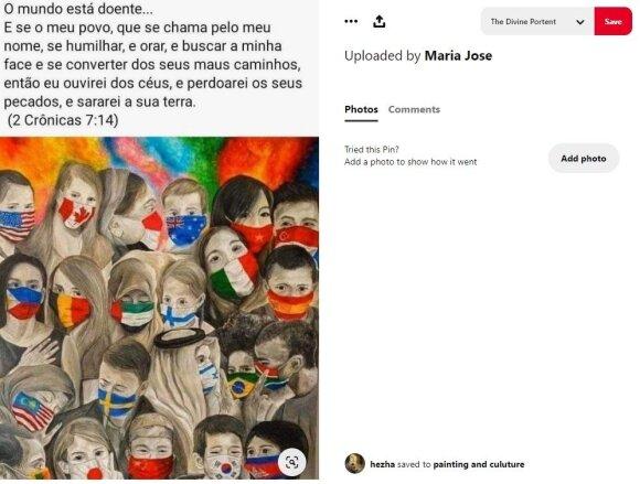 Portugalai dalinasi piešiniu