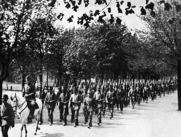 Suomių jėgeriai iš 27-ojo bataliono 1917 m.