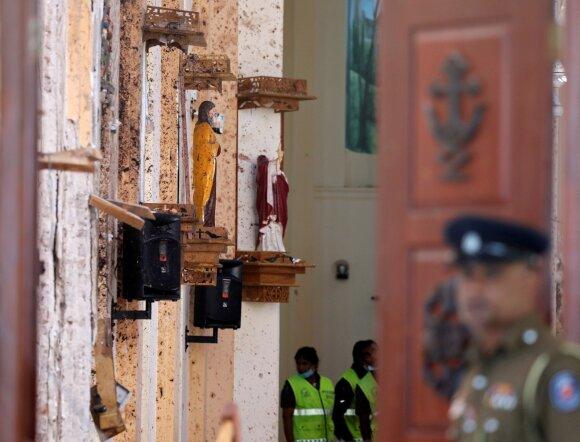 Šri Lankoje driogstelėjo virtinė sprogimų