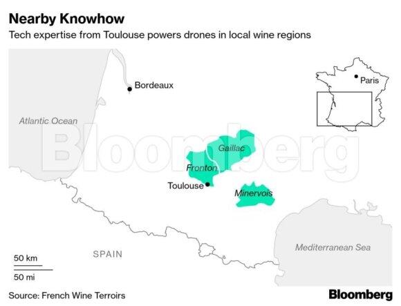 Dėl dronų prancūziškas vynas tapo dar skanesnis