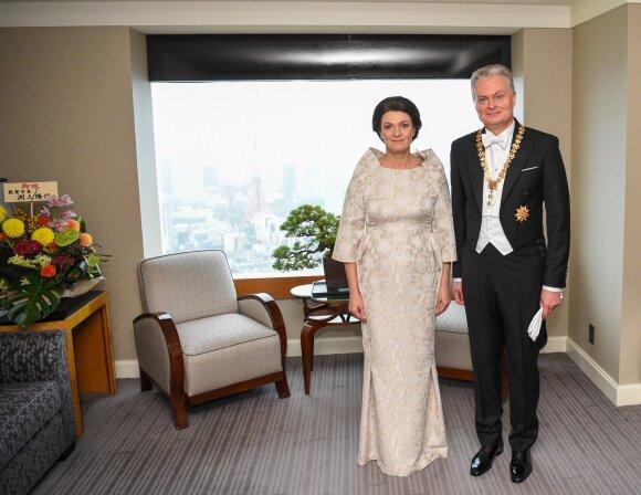 Lietuvos prezidentas Gitanas Nausėda ir pirmoji ponia Diana Nausėdienė vieši Japonijoje