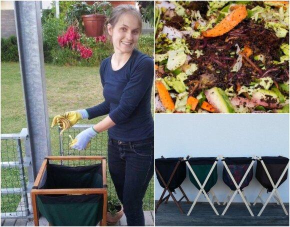 Kompostuoti galima ir gyvenant bute: vilnietė papasakojo, kaip prie rūšiavimo prisidėjo sliekai