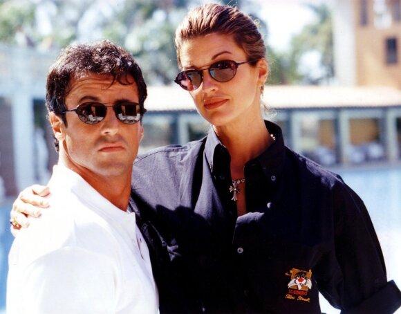 Janice Dickinson ir Sylvesteris Stallone