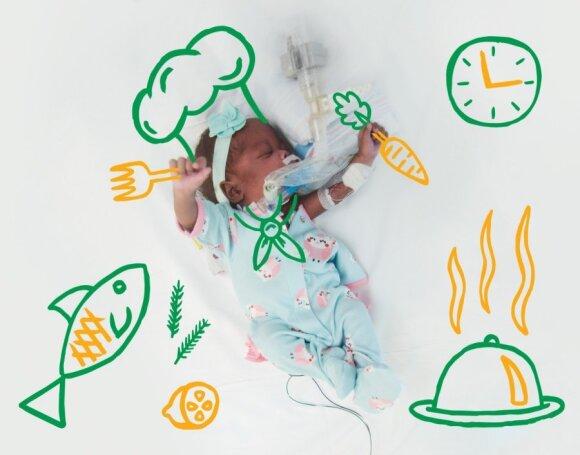 """Inkubatoriuje gulintys vaikai pozavo jaudinančioje fotosesijoje <span style=""""color: #ff0000;""""><sup>(FOTO)</sup></span>"""