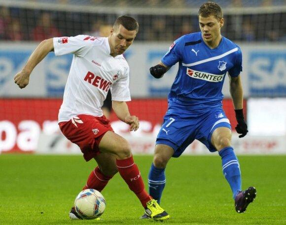 Lukas Podolski ir Borisas Vukcevičius