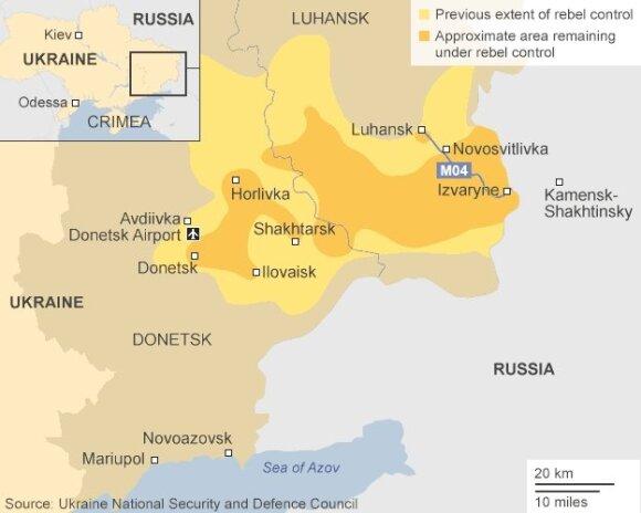 Rusijos kariuomenė įsiveržė į Ukrainą ties Novoazovsku