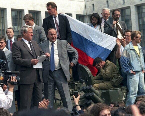 Aleksandras Koržakovas, Borisas Jelcinas