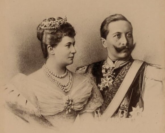 Vokietijos princas Wilhelmas su žmona