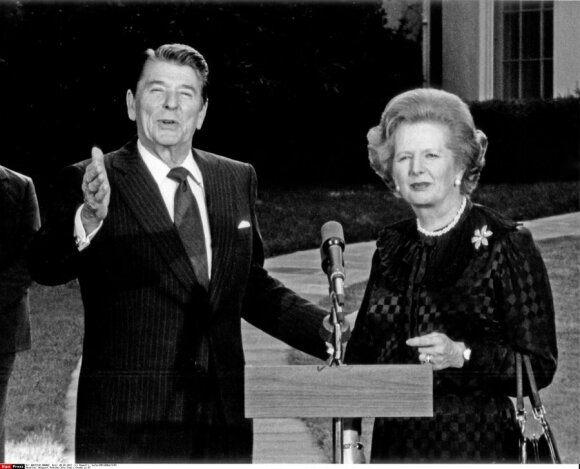 Ronaldas Reaganas ir Margaret Thatcher