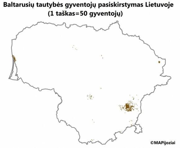 Białorusini na Litwie. Foto: mapijoziai.lt