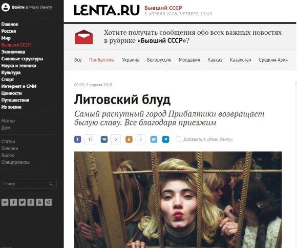 Kremliaus ruporas apie Vilnių: prostitučių rojus, labiausiai pasileidęs Baltijos šalių miestas