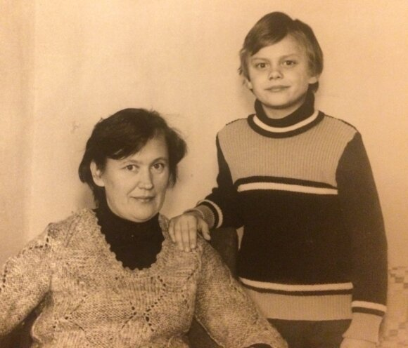 Saulius su mama