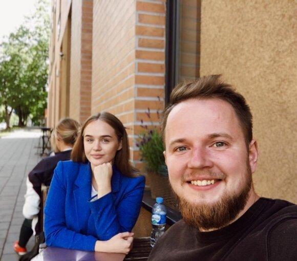 Beatričė Staniūnaitė su Mantu Bartuševičiumi