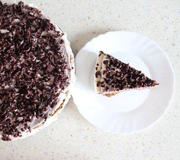 Kavos skonio maskarponės sūrio tortas
