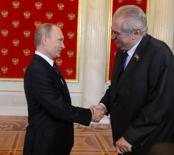 Vladimir Putin and Czech President Miloš Zeman