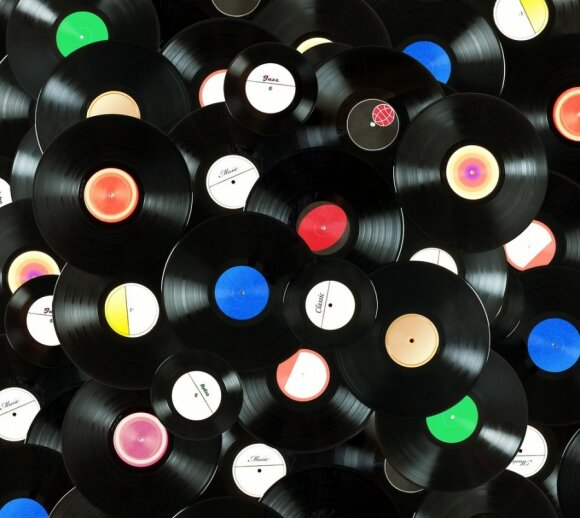 Old vinyl discs are not just for playing music
