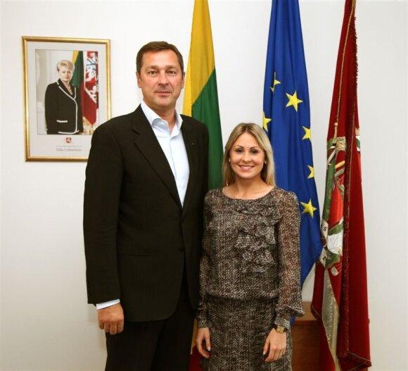Artūras Zuokas ir Laura Asadauskaitė