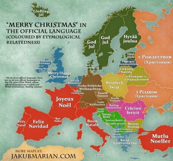 Wesołych Świąt w językach Europy