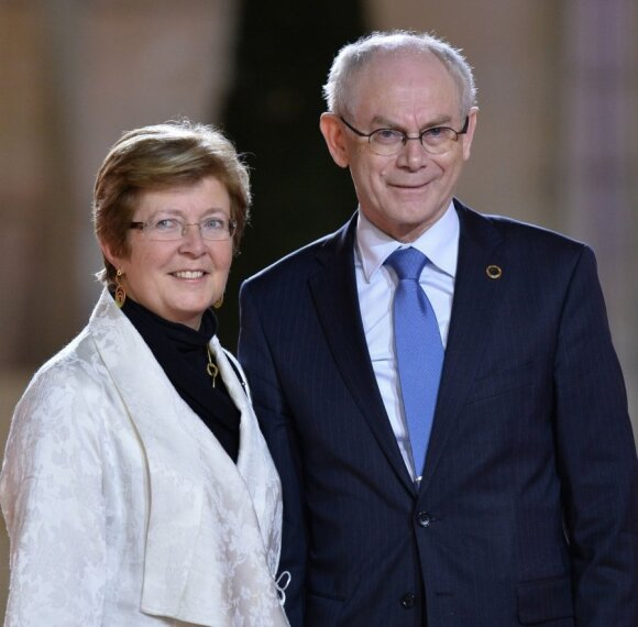Herman Van Rompuy ir jo žmona Geertrui Windels