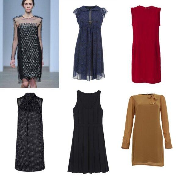 """""""Sportmax"""" modelis; Suknelės: """"Kocca"""" (""""Aprangos galerija""""), """"Zara"""", """"Massimo Dutti"""""""