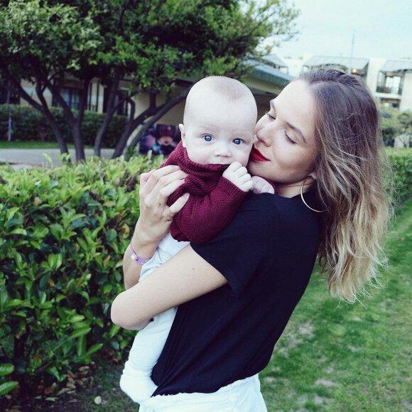 Justina Rudokė su sūnumi