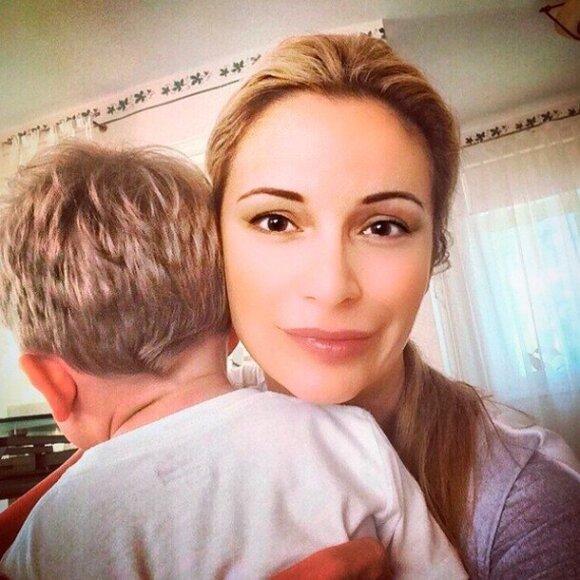Орлова сфотографировалась с сыном Фриске