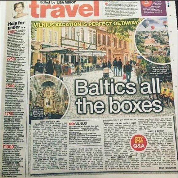 Vilnius pristatytas viename didžiausių Jungtinės Karalystės leidinių