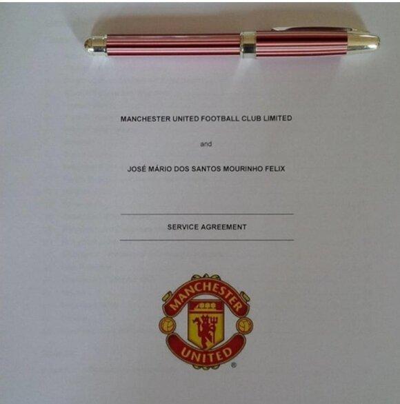 """Jose Mourinho ir """"Man United"""" klubo sutartis"""
