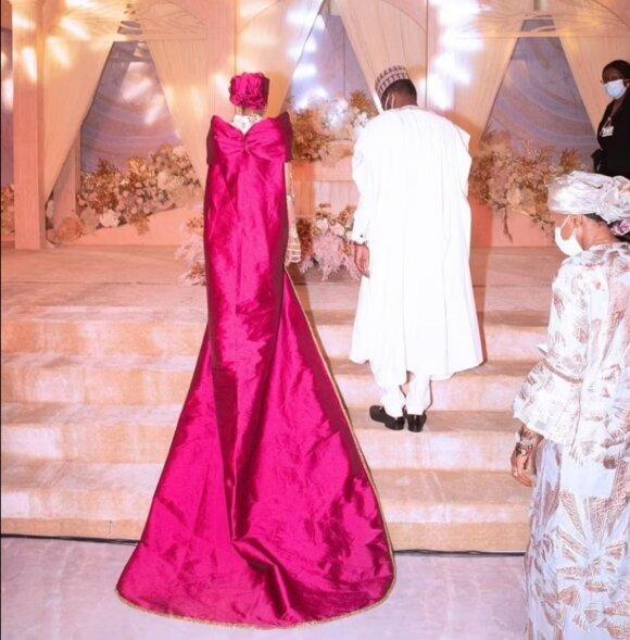 Prezidento Buhari sūnaus ir Bičio emyro dukters vestuvės