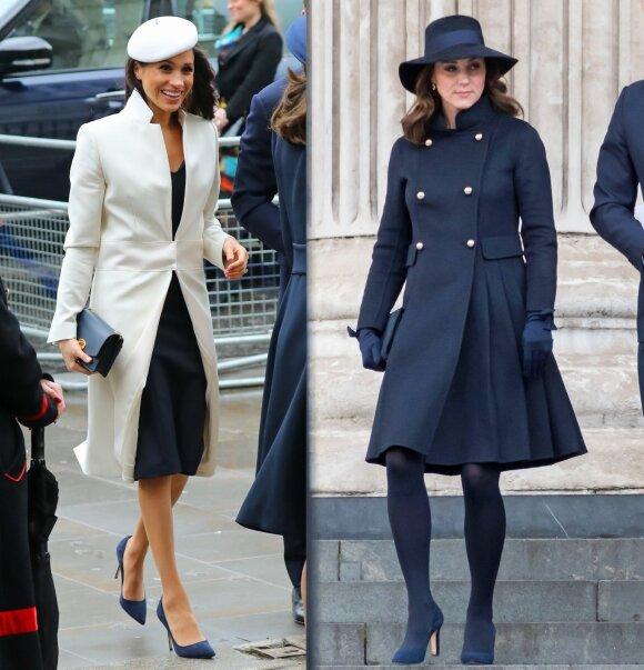 Meghan Markle (kairėje) ir Kate Middleton/ Vida Press nuotr. montažas