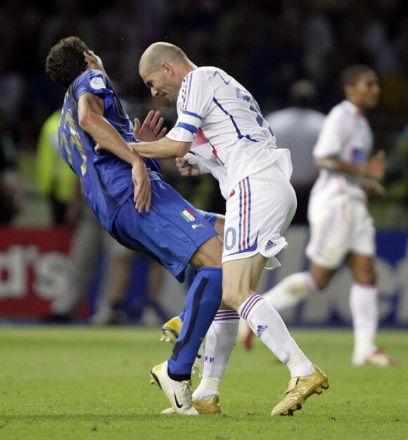 Zinedine'as Zidane'as ir  Marco Materazzi