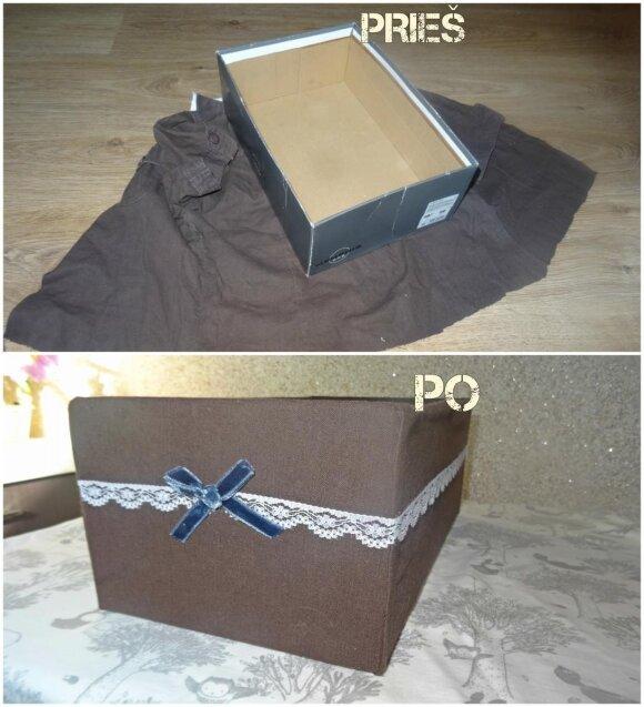 Ką gražaus ir naudingo galima pasidaryti iš senos batų dėžės