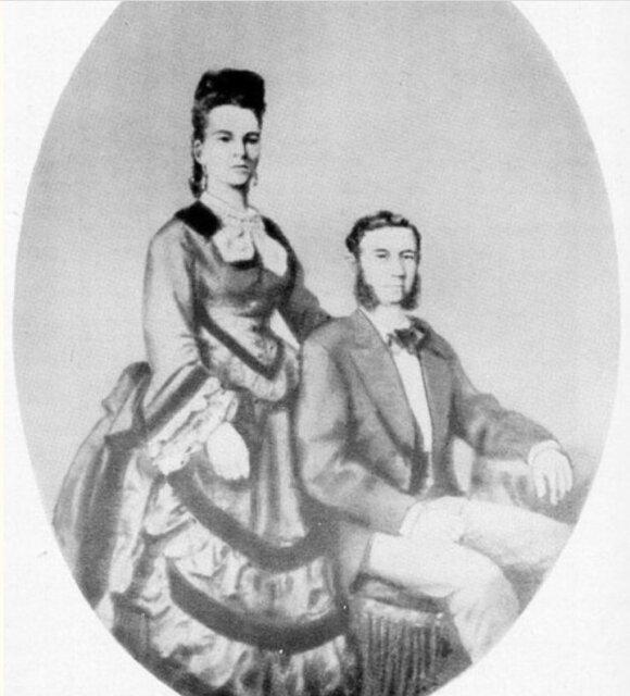 Izidoriaus ir Idos Straus vestuvių portretas