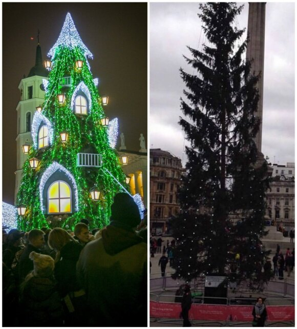 Po pašaipų feisbuke gina Londono kalėdines egles