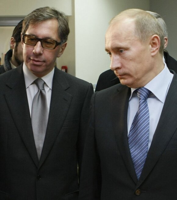Pyotr Aven and Vladimir Putin