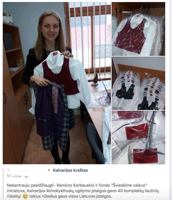 Į Kalvarijos darželius jau atkeliavo tautiniai drabužiai
