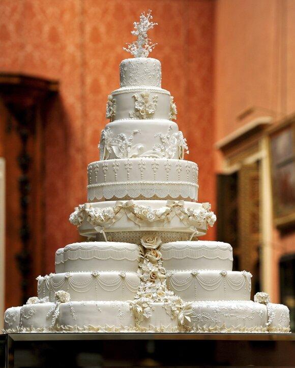 Princo Williamo ir žmonos Kate vestuvinis tortas