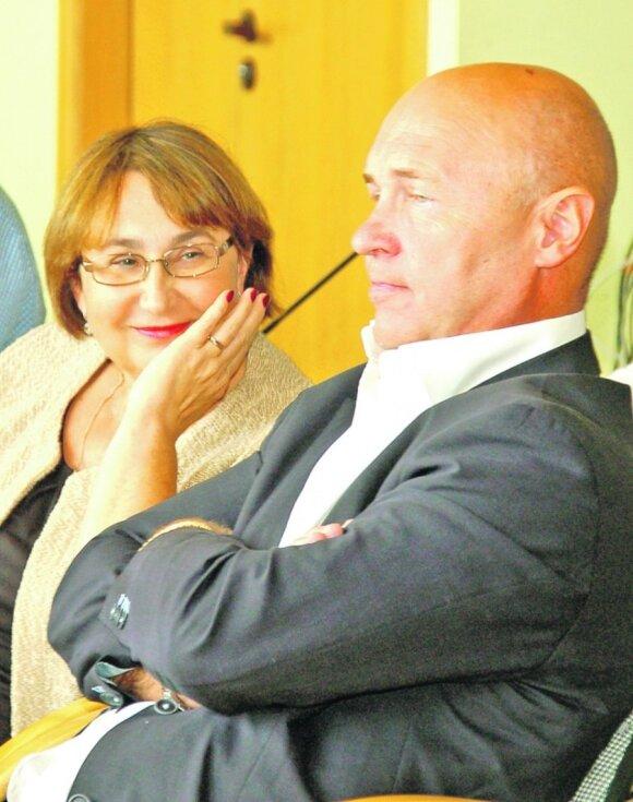 Visvaldas Nekrašas su žmona
