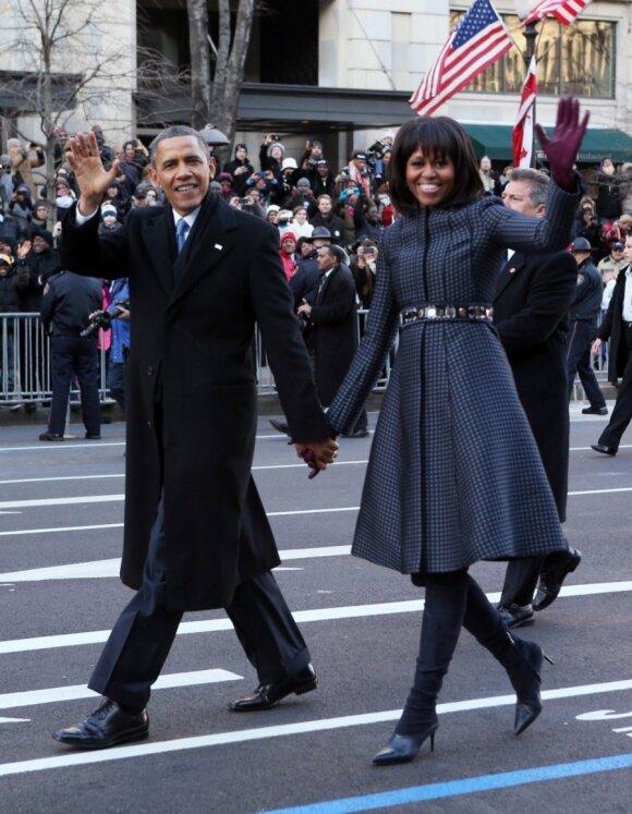 M.Obama antrą kartą išlaikė inauguracijos stiliaus egzaminą