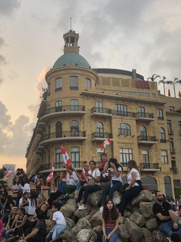 Libaną purto protestų banga - Marijos Rakickajos nuotr.