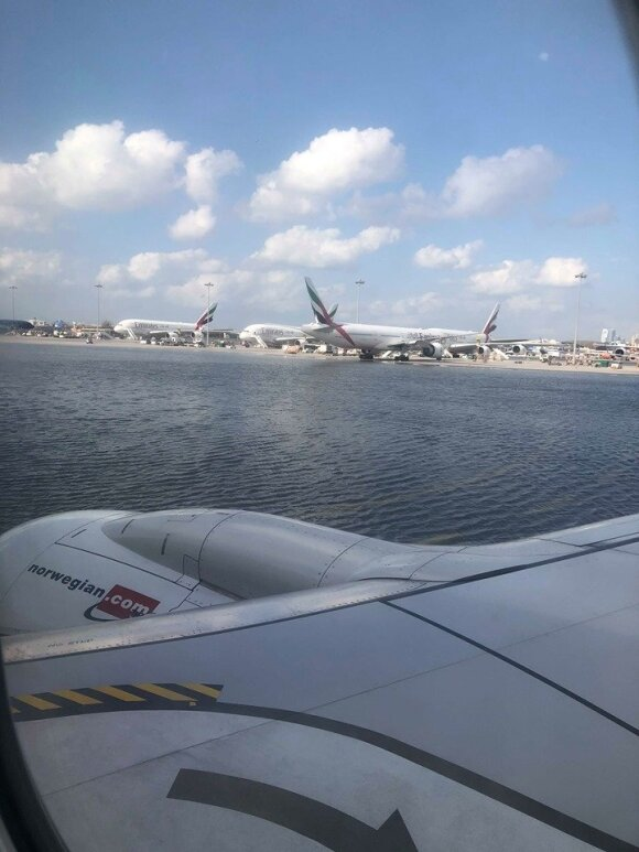 Oro uostas apsemtas vandeniu
